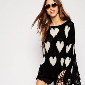 WILDFOX COUTURE - All Over Love Lennon Sweater